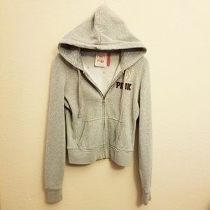 "PINK VS ""A-Listers"" Gray Hoodie Size M"